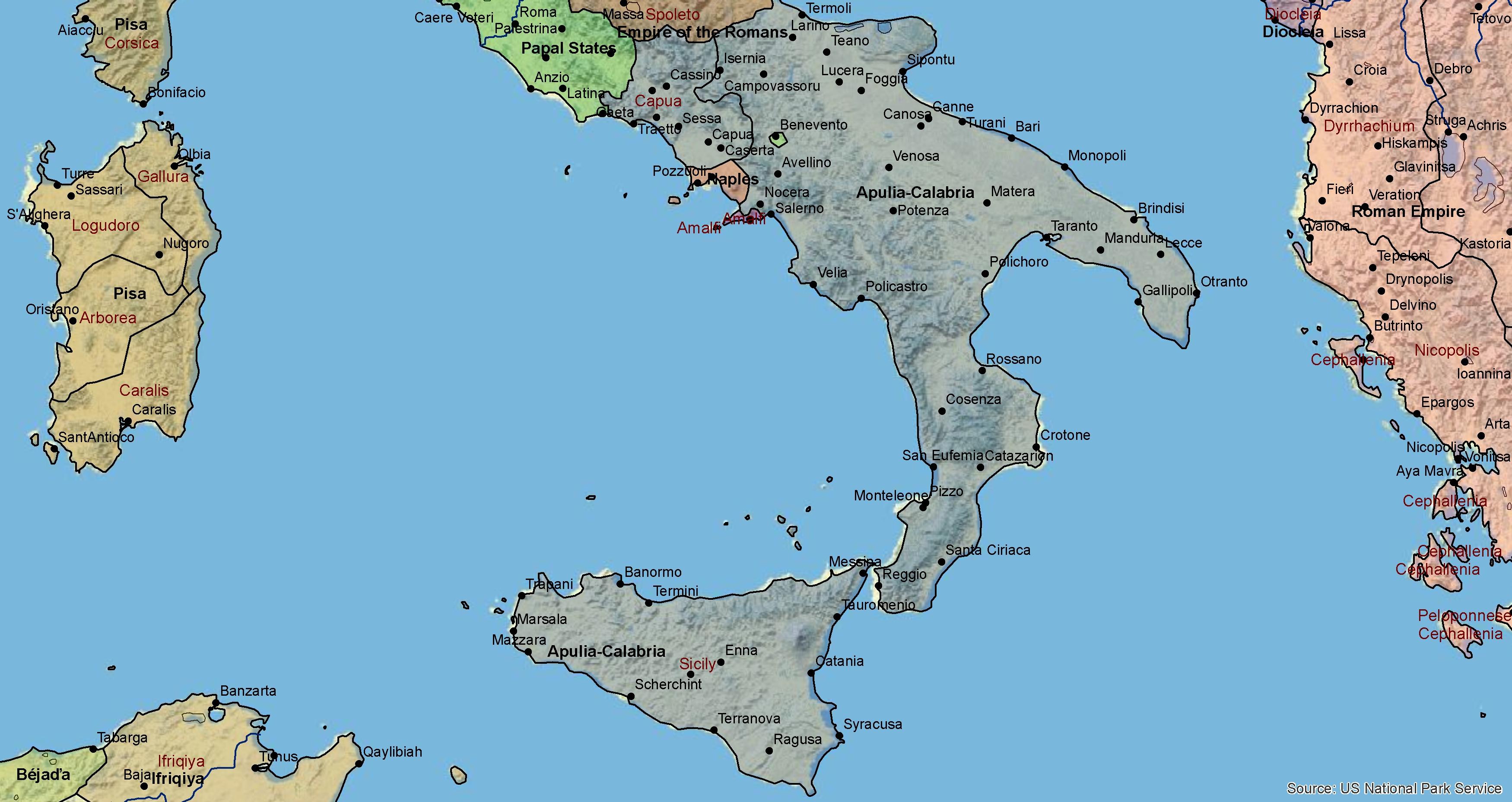 Jizni Italie 1100